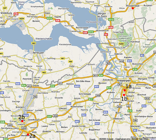 Plattegrond van Antwerpen en Gent.: studentonbekend.nl/naar-belgie/plattegrond